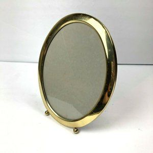 Oval Picture Frame Gold Plated Round